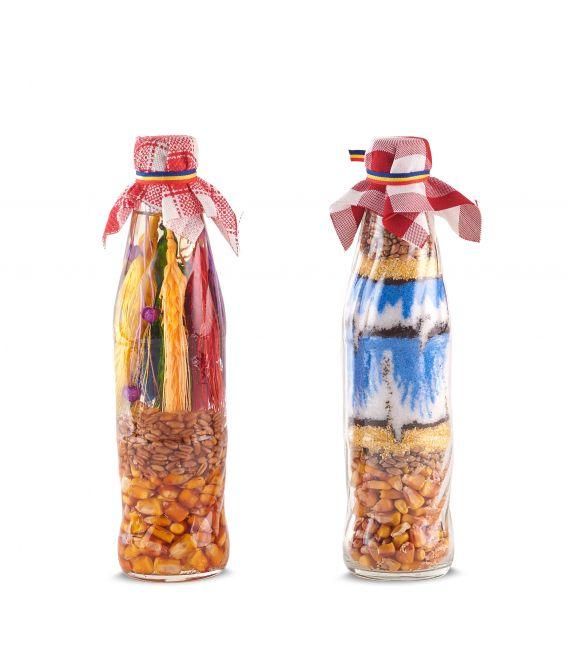 Sticlă decorativă cu spice sau condimente