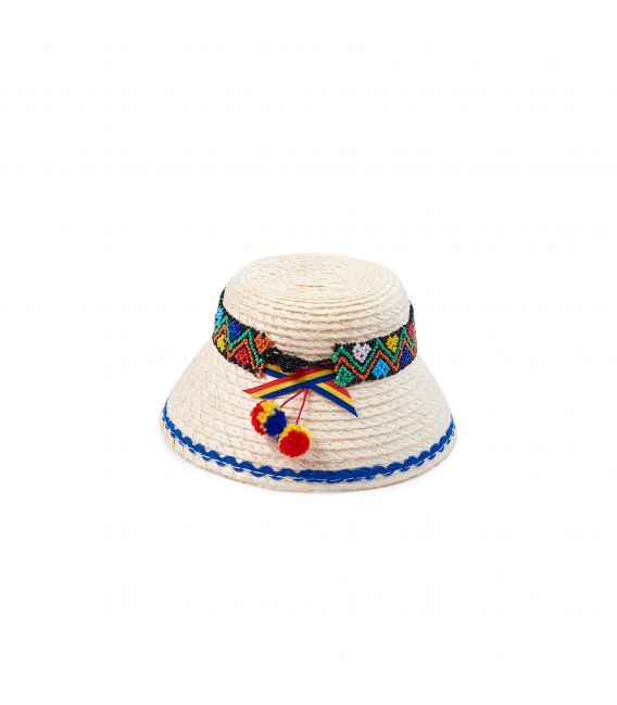 Clop maramureș pentru copii, cu mărgele, 16 cm
