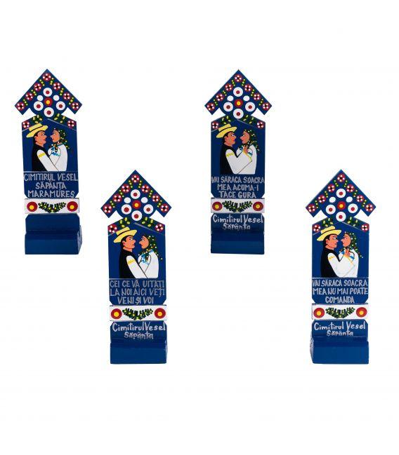 Cruci din Cimitirul Vesel - Pictate manual