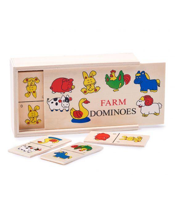 Domino cu animale pentru copii