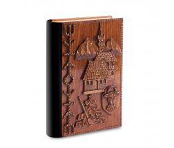 Casetă din lemn sculptată cu deschidere secretă