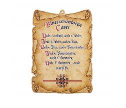 Tablou din lemn: Cimitirul Vesel, Tatăl Nostru, Imnul Iubirii, Binecuvântarea Casei