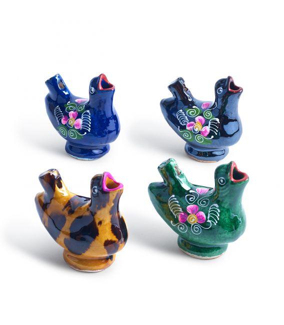 Fluier din ceramică în formă de pasăre